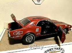 1/18 scale 1968 Chevrolet Camaro OLD RELIABLE-Dave Strickler-red ext/black int
