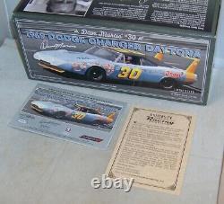 124 University Of Racing 1969 #30 Dave Marcis Dodge Charger Daytona Autographed