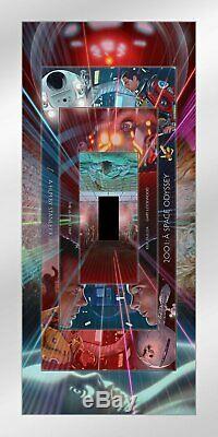 2001 Space Odyssey Dave Neil Davies METALLIC Poster Giclee Print 12x24 Mondo