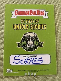 2020 GPK 35th Garbage Pail Kids Untold Stories 1/1 Sketch Card Artist Auto