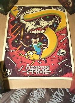 Adventure Time by Dave Quiggle Mondo limited edition art print 18 x 24 in