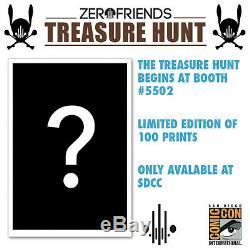 Alex Pardee & Dave correia #100/100 zerofriends SIGNED PRINT very rare SDCC 2013