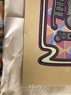 Black Keys Poster 2014 Detroit Dave Hunter Rare Gold Varient 1 of 4