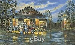 Dave Barnhouse Small Town Service Master Canvas #89/195 WithCERT Harley Biker