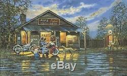 Dave Barnhouse Small Town Service Master Canvas AP # 8 /19 Harley Davidson