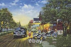 Dave Barnhouse Spring Cleaning Master Canvas # 65/195 WithCERT Classic Cars
