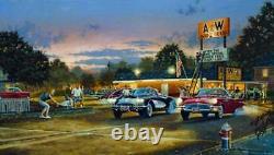 Dave Barnhouse Sunset Strip Master Canvas #85 /195 WithCERT Rare Mint