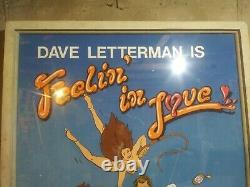 Dave Letterman Stage Backdrop. 1986 See Photos And Description