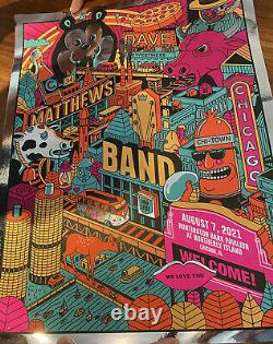 Dave Matthews Band Chicago Limited Edition Foil Poster #70/125 Concert 8/7/2021
