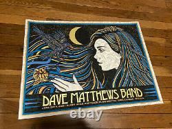 Dave Matthews Band Poster 2019 Noblesville Slater MINT LIMITED Show EDITION #ed