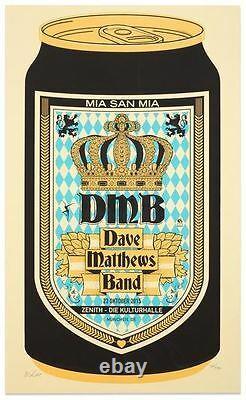 Dave Matthews Band Poster Munchen, DE 10/23/2015 Limited Edition BeerCan 85/450