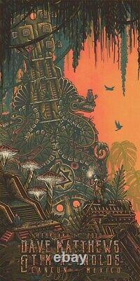 Dave Matthews Tim Reynolds Cancun Mexico N1 Triptych Poster Luke Martin