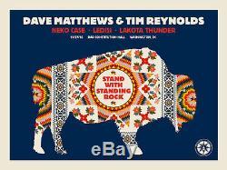Dave Matthews Tim Reynolds poster Washington, DC 11/27/16 Standing Rock Benefit