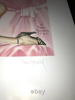 Dave Stevens signed Bettys Boudoir Limited Edition Print #193/450-Free shipp