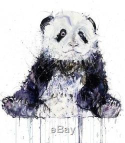 Dave White Panda XL Diamond Dust Limited Edition Print