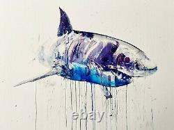 Dave White Shark Art Print'Great White II' Signed Sold Out Limited Edition