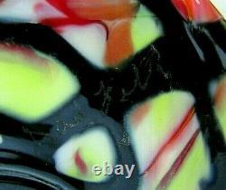 FENTON ART GLASS DAVE FETTY ORIGINAL OOAK SIGNED Dave Fetty 03 Vase 11H