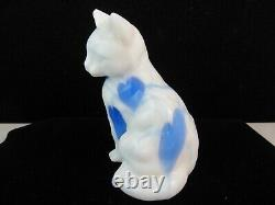 FENTON DAVE FETTY BLOWN GLASS HANGING HEARTS CAT SPECIAL ORDER 9 of 72 SIGNED