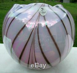 FENTON GLASS LAVENDER HAZE Dave Fetty #10/250 VASE GORGEOUS & MINTRare