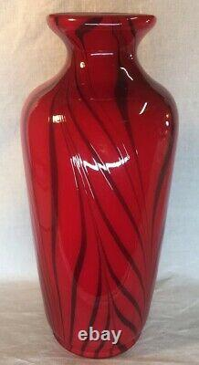 Fenton Art Glass By Dave Fetty Ruby Royale Hand Blown Vase Limited To 250 #10