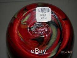 Fenton Art Glass Dave Fetty Crayon Vase Connoisseur Collection, #37/750 10.5h