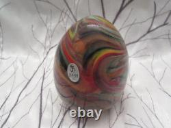 Fenton Art Glass Dave Fetty Crayons Egg Limited Edition 262/1250