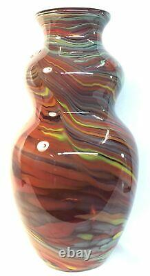 Fenton Art Glass Dave Fetty Crayons Vase Hand Blown Vase Limited To 750