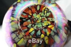Fenton Art Glass Dave Fetty Limited Edition Qvc Iridized Threaded Mosaic Vase