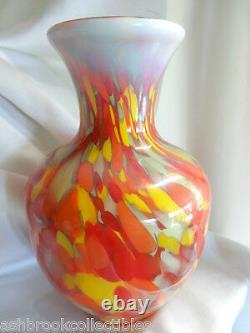 Fenton Art Glass Limited Myriad Mist Vase Dave Fetty New in Box Multi Colored