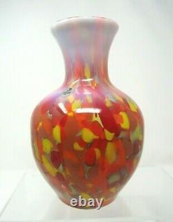 Fenton Dave Fetty Myriad Mist Vase 270/750 with Paperwork and Box 8 1/4