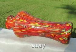 Fenton Glass Dave Fetty Swirl Mosaic HUGE Vase 13H Limited Edition #255/750