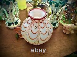 Fenton Glass Vase, Artist Dave Fetty, Draped Pattern