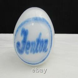 Fenton Milk Glass Dave Fetty Fenton Hand Blown Egg Paperweight 2004 W98