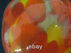 Fenton Myriad Mist Orange Vase Limited #37/750 Signed Dave Fetty 2001 MIB