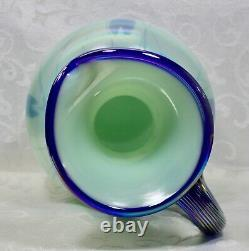 Fenton, Pitcher, Willow Green Glass, Dave Fetty, Connoisseur Collection 2003