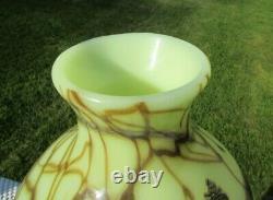 Fenton Robert Barber Dave Fetty 1975 Custard Hanging Hearts Vase 11H 54/550
