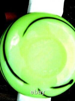 Fenton Robert Barber Dave Fetty Custard Hanging Hearts Vase 9.75H #285/600