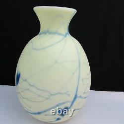 Fenton Robert Barber Dave Fetty Custard Satin Hanging Hearts Vase A4 1975
