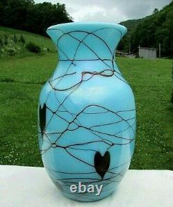 Fenton Robert Barber-Dave Fetty Hanging Hearts 212/600. 10H Vase 1975