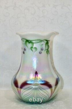 Fenton, Vase, Opal Glass, Connoisseur Collection 1998, Dave Fetty, Limited Ed