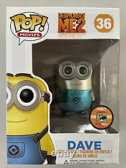 Funko Pop Minion Dave SDCC Metallic Exclusive Despicable Me Limited Edition 1008