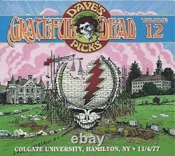 GRATEFUL DEAD DAVE'S PICKS VOL 12 Colgate Univ. 11/04/77 Like New