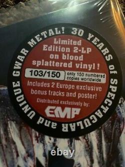GWAR BATTLE MAXIMUS ORIGINAL VINYL LP RECORD LIMITED BLOOD 103/150 dave brockie