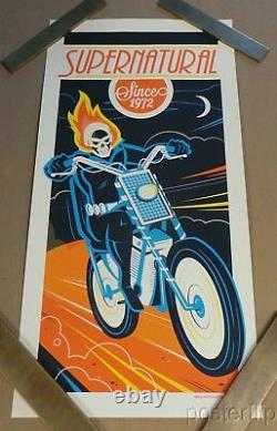 Ghost Rider Screenprint Poster Dave Perillo xx/225 Hand Numbered Marvel