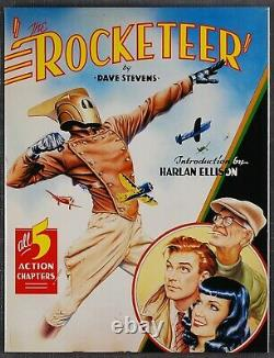 Graphitti Limited Edition THE ROCKETEER, HC in DJ, SIGNED by DAVE STEVENS, 1985