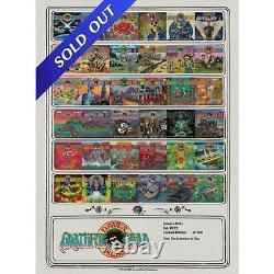 Grateful Dead Poster Dave's Picks Vol. 1-36 Limited Edition Print #52/100