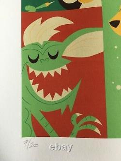 Gremlins 2010 art print #9/20 Gizmo Stripe Dave Perillo Christmas Poster mondo