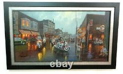 Harley Davidson Dave Barnhouse Canvas Framed Here They Come