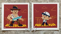 Indiana Jones And The Temple Of Doom Movie Art Print Dave Perillo G1988 mondo