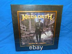 Megadeth Death by Design 4-LP Transparent Vinyl Box Set FYE Dave Mustaine Signed
